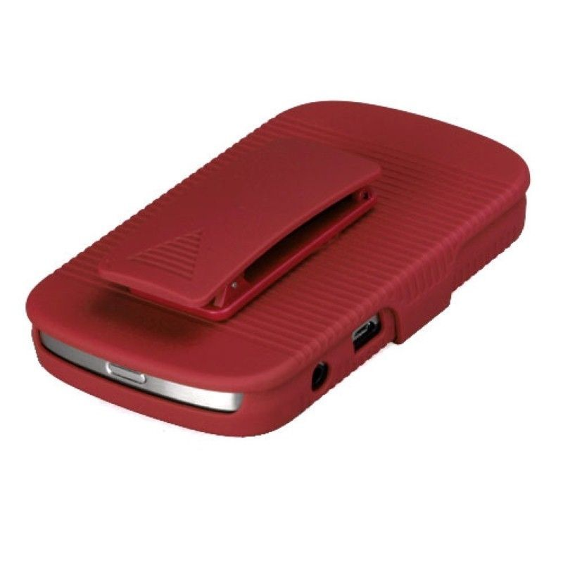 Rubberized-Hard-Case-Stand-Holster-Belt-Clip-For-Blackberry-Bold-9900-Bold-9930 miniature 11