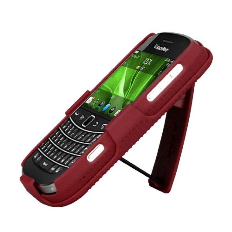 Rubberized-Hard-Case-Stand-Holster-Belt-Clip-For-Blackberry-Bold-9900-Bold-9930 miniature 13