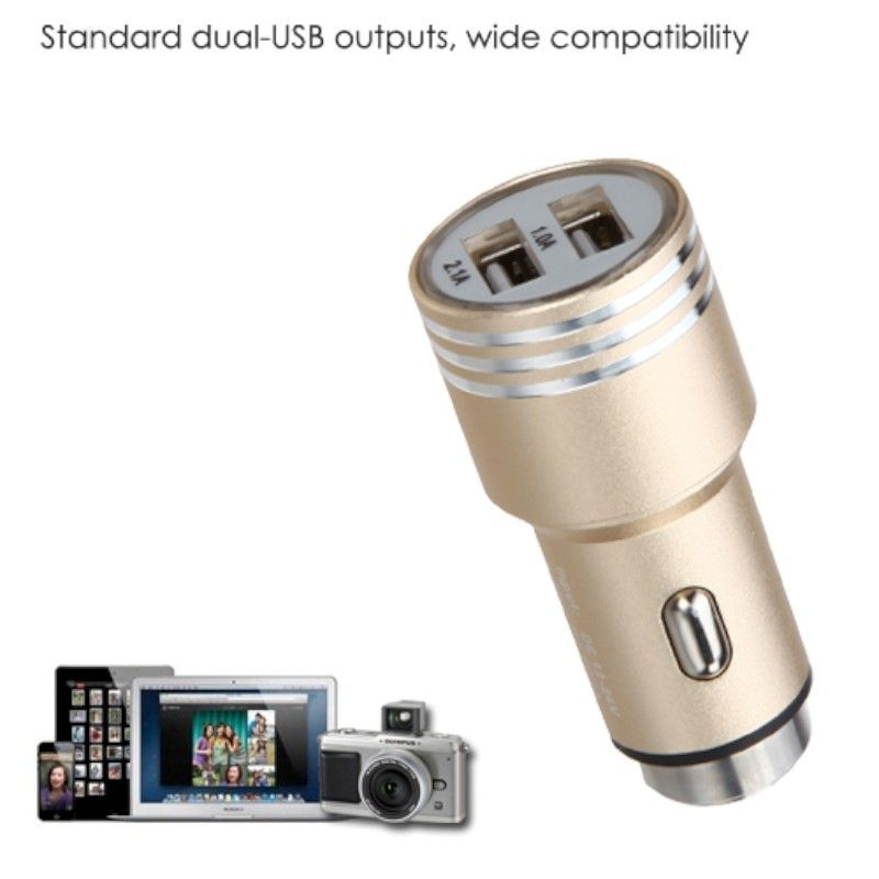 2-Port-Dual-USB-2-1A-Car-Charger-Adapter-Bullet-Fast-Charging-For-Mobile-Phones thumbnail 16