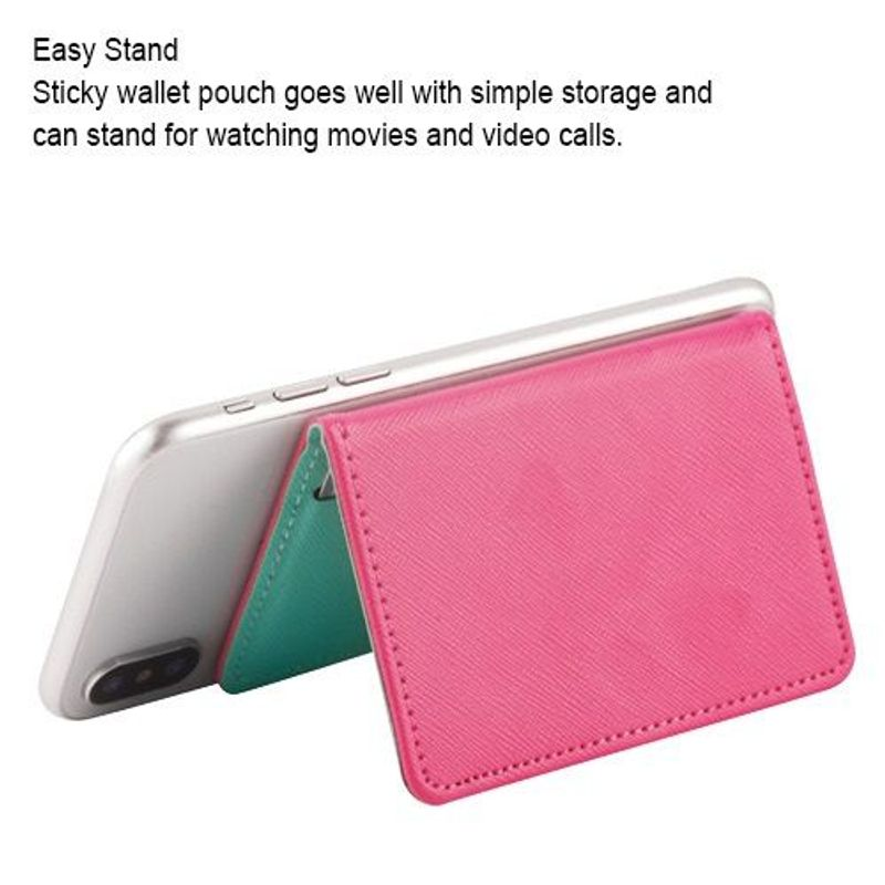 Mobile-Phone-Leather-Wallet-Credit-ID-Card-Holder-Pocket-3M-Adhesive-Sticker
