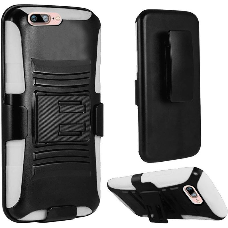 For-Apple-iPhone-7-Hybrid-Hard-Silicone-Side-Kickstand-Case-Holster-Clip thumbnail 7