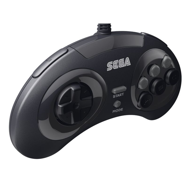 Retro-Bit-SEGA-Genesis-8-Button-Arcade-Pad-USB-Controller-Gamepad-for-PC-Mac thumbnail 4
