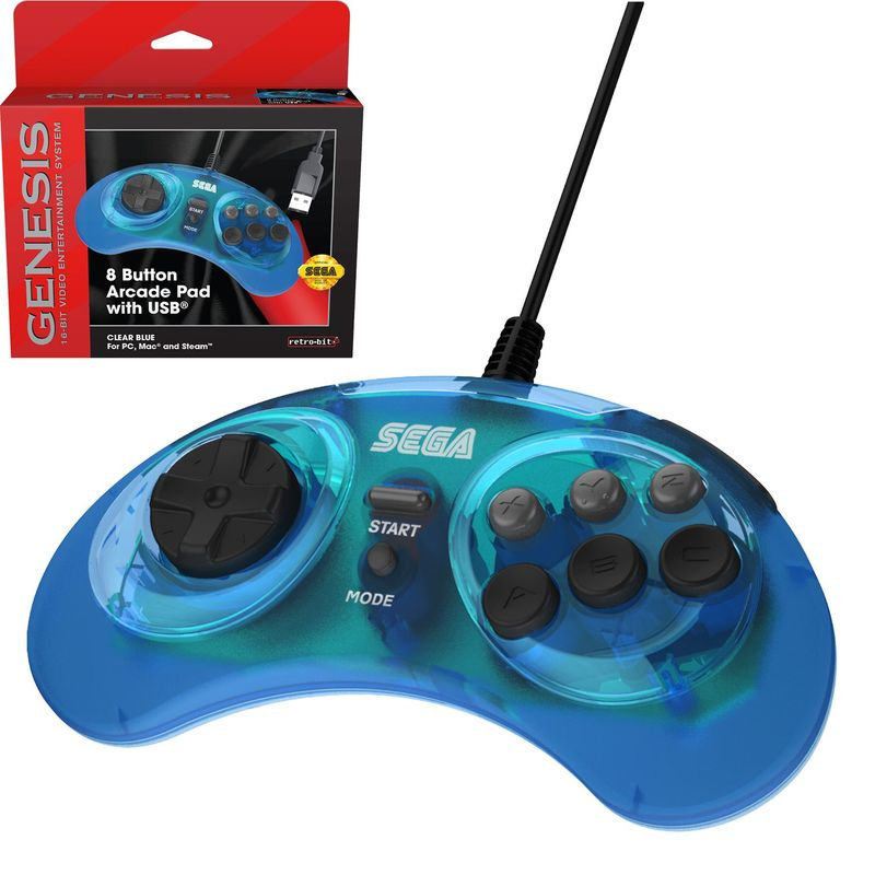 Retro-Bit-SEGA-Genesis-8-Button-Arcade-Pad-USB-Controller-Gamepad-for-PC-Mac thumbnail 10