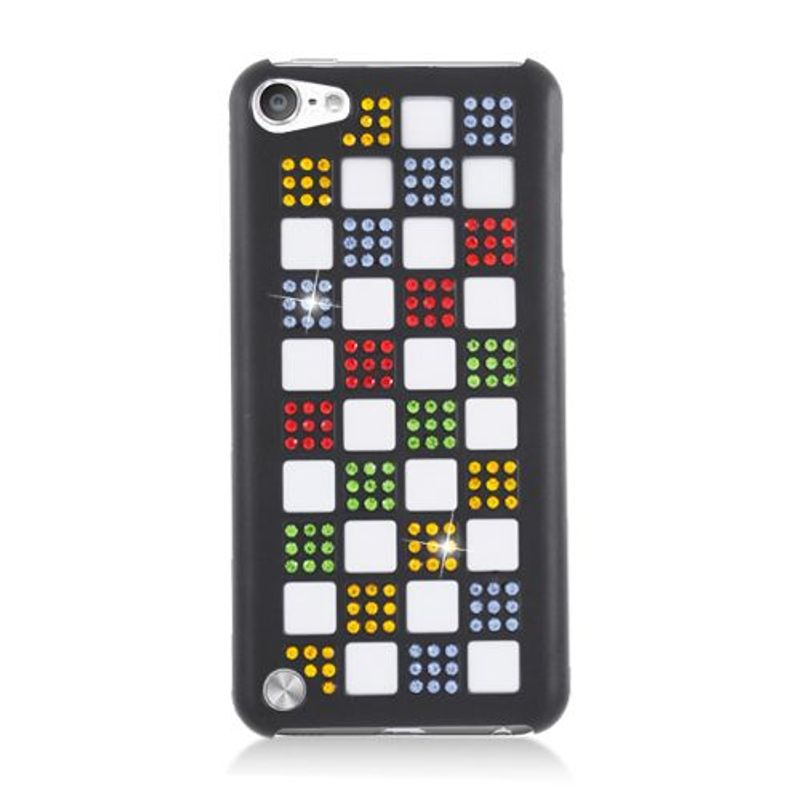 Details about Checker Hybrid Rubber Silicone/PC Case with Diamond for Apple  iPod Touch 5th Gen