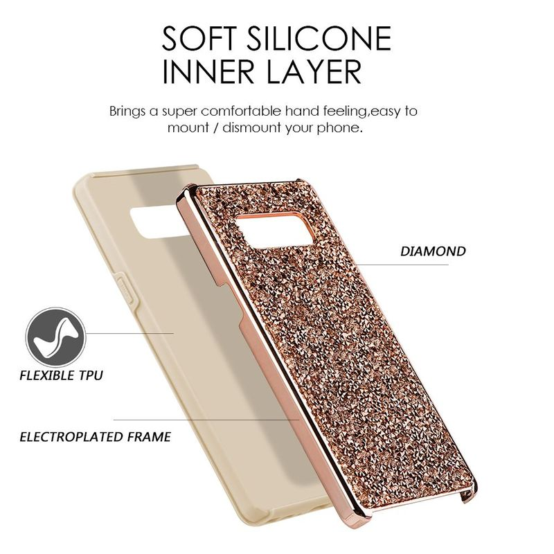 For-Samsung-Galaxy-Note-8-Rhinestone-Diamond-Bling-Hard-Snap-in-Case-Cover