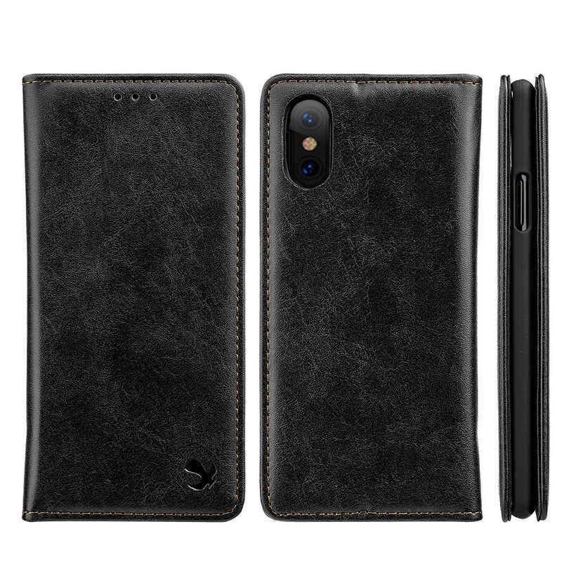 For-Apple-iPhone-Samsung-Leather-Flip-Wallet-Card-Slot-Case-Phone-Stand-Cover thumbnail 3