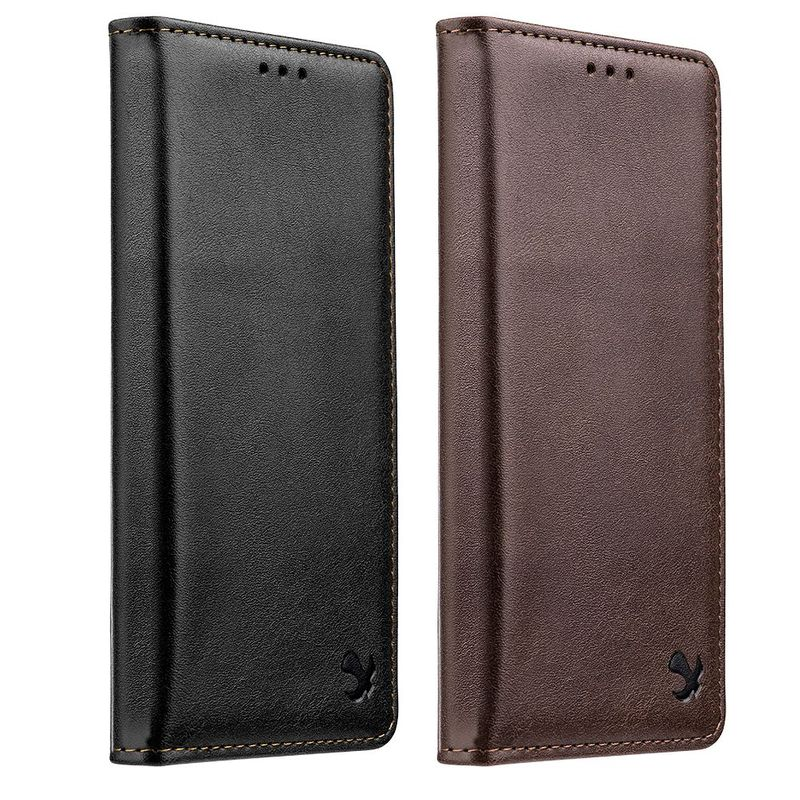 For-Apple-iPhone-Samsung-Leather-Flip-Wallet-Card-Slot-Case-Phone-Stand-Cover thumbnail 4