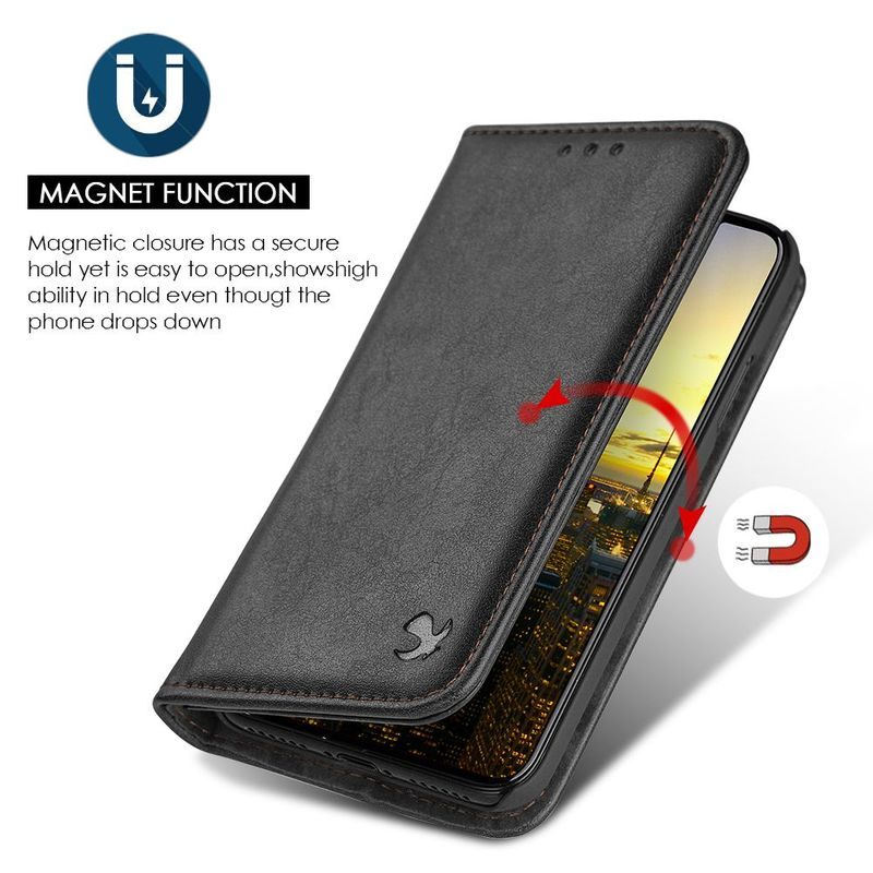 For-Apple-iPhone-Samsung-Leather-Flip-Wallet-Card-Slot-Case-Phone-Stand-Cover thumbnail 5