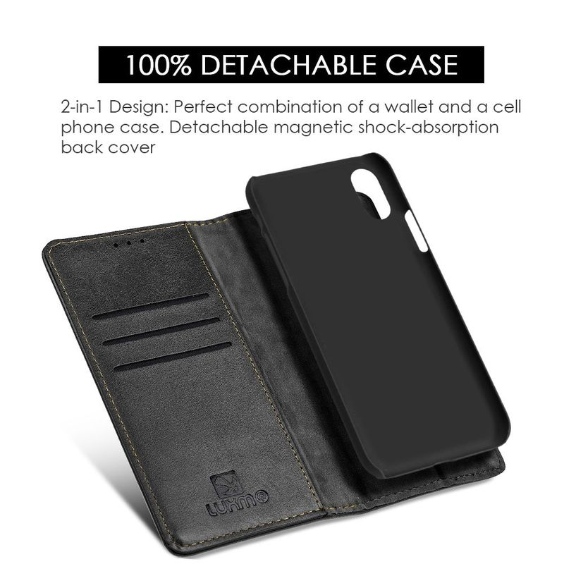 For-Apple-iPhone-Samsung-Leather-Flip-Wallet-Card-Slot-Case-Phone-Stand-Cover thumbnail 6