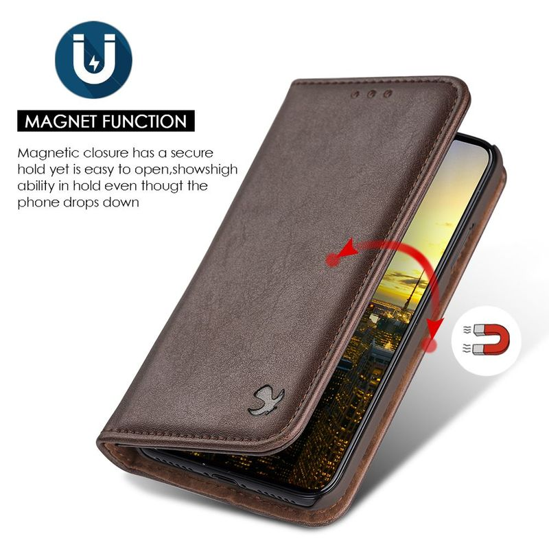 For-Apple-iPhone-Samsung-Leather-Flip-Wallet-Card-Slot-Case-Phone-Stand-Cover thumbnail 10