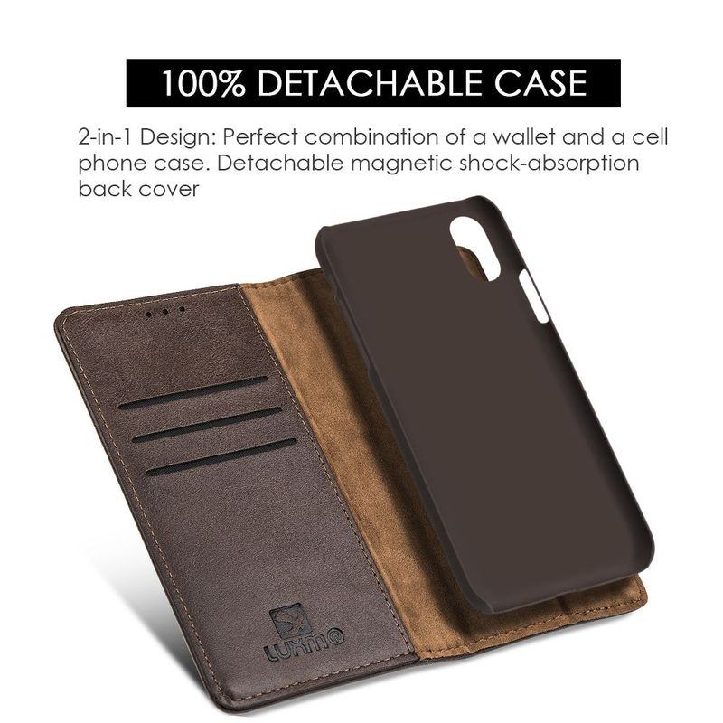 For-Apple-iPhone-Samsung-Leather-Flip-Wallet-Card-Slot-Case-Phone-Stand-Cover thumbnail 11
