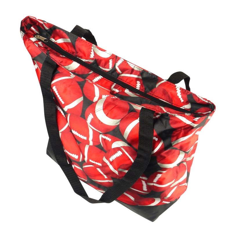 Lightweight-Large-All-Purpose-Shopping-Travel-Zippered-Top-Closure-Tote-Bag miniatuur 9