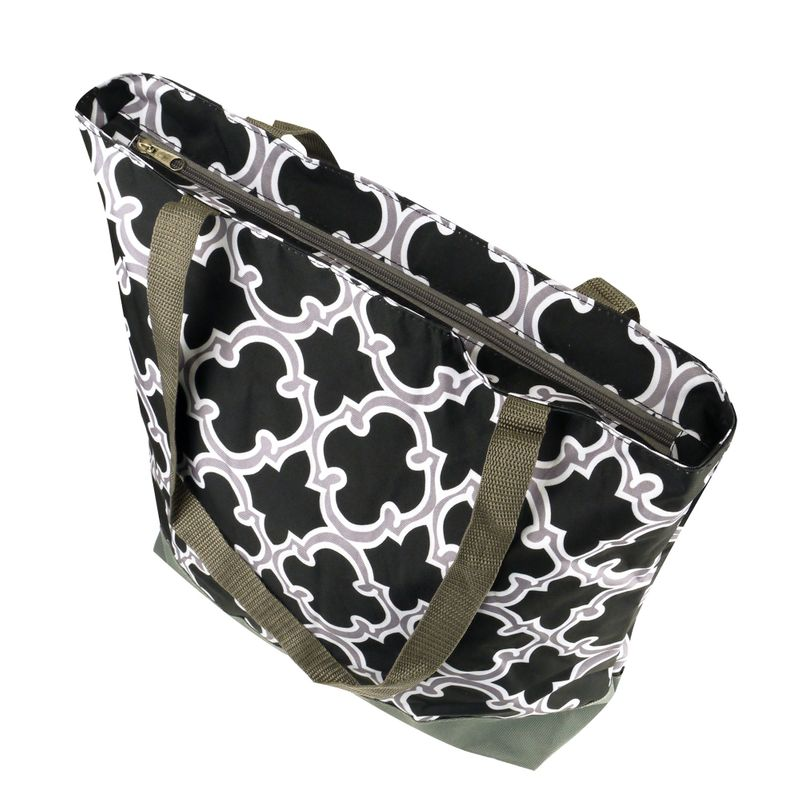 Lightweight-Large-All-Purpose-Shopping-Travel-Zippered-Top-Closure-Tote-Bag miniatuur 5