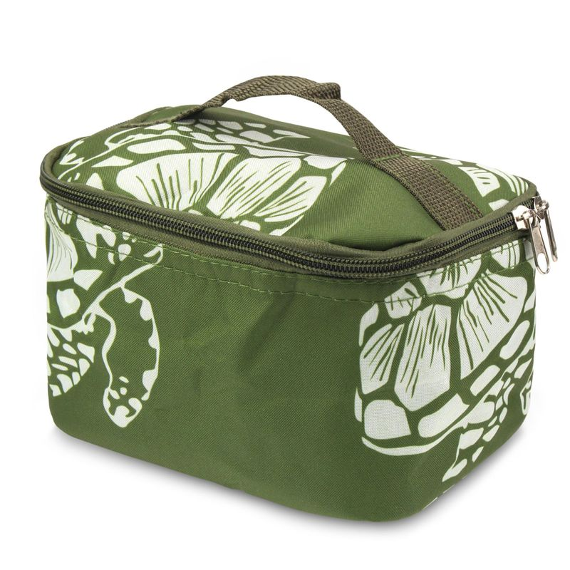 Small-Travel-Cosmetic-Makeup-Toiletry-Organiser-Carry-Bag-Storage-Case-w-Mirror miniatuur 3