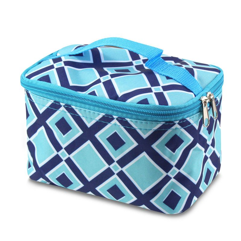 Compact-Small-Cosmetic-Makeup-Tote-Carry-Travel-Bag-Toiletry-Organizer-w-Mirror miniatuur 3