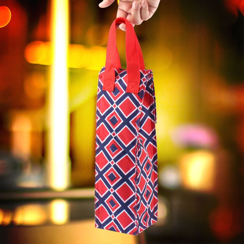 Thermal-Insulated-Lightweight-Wine-Bottle-Tote-Carry-Bag-for-Party miniatuur 9