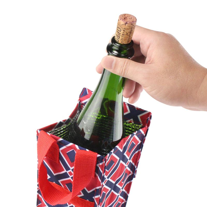 Thermal-Insulated-Lightweight-Wine-Bottle-Tote-Carry-Bag-for-Party miniatuur 10