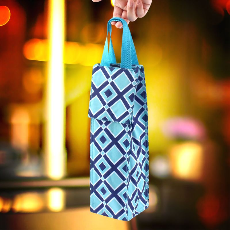 Thermal-Insulated-Lightweight-Wine-Bottle-Tote-Carry-Bag-for-Party miniatuur 3