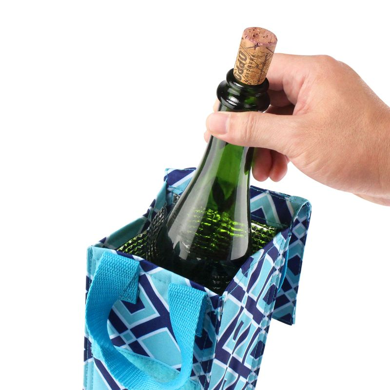 Thermal-Insulated-Lightweight-Wine-Bottle-Tote-Carry-Bag-for-Party miniatuur 4