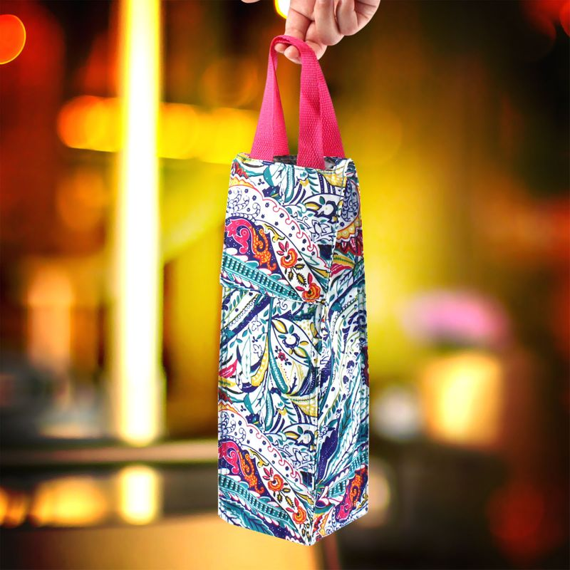 Thermal-Insulated-Lightweight-Wine-Bottle-Tote-Carry-Bag-for-Party miniatuur 6