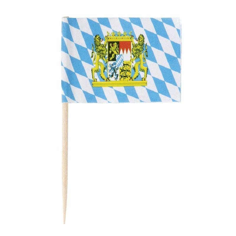 200pcs Oktoberfest Party Supplies, Bavarian Flag Cupcake Top
