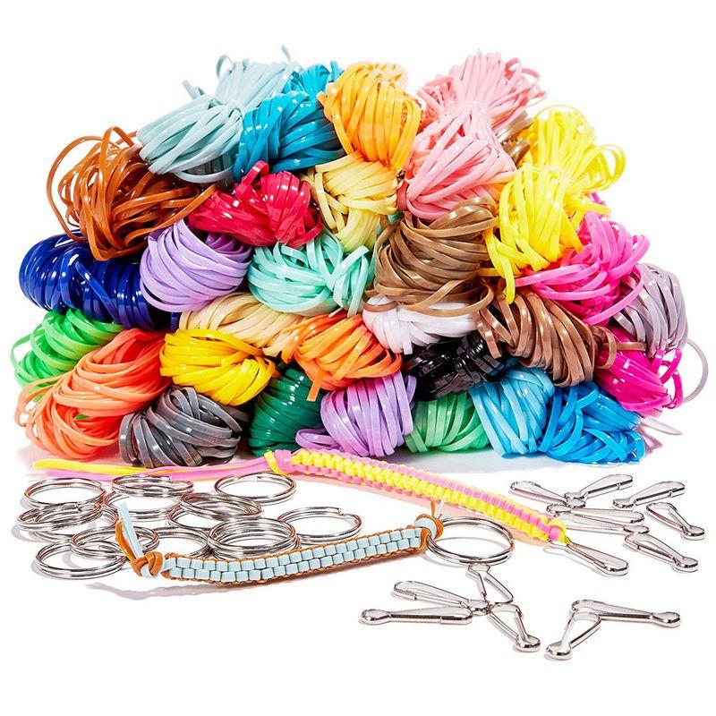 1240 ft Plastic Lacing String Cord Kit, 31 Colors, 15 Lanyar